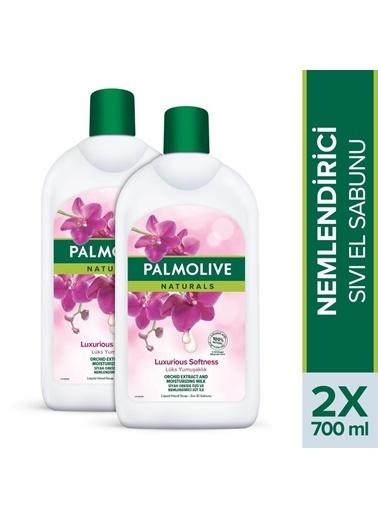 Palmolive Palmolive Naturals Orkide ıpeksi Yumuşaklık Nemlendirici 2'li Sıvı El Sabunu 700 ml Renksiz
